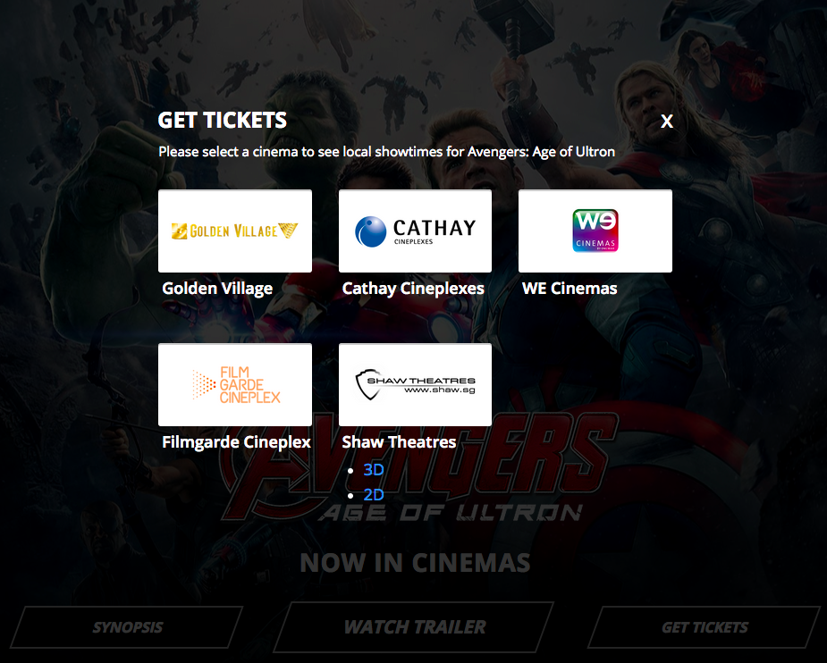 Buy avengers tickets website