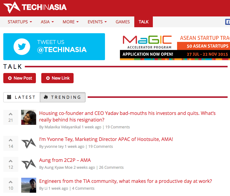 Techinasia Talk